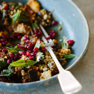 Food & Wine: Eggplant with Pomegranate, Millet and Mint
