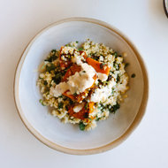 Food & Wine: Spice-Roasted Butternut Squash with Herbed Millet and Tahini Dressing