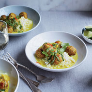 Food & Wine: Ginger-Braised Pork Meatballs in Coconut Broth