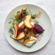 Food & Wine: Goat Ricotta with Peaches