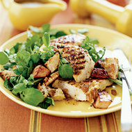 Food & Wine: Grilled Chicken and Watercress Salad with Canadian Bacon