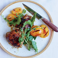 Food & Wine: Grilled Chicken Thighs with Pickled Peaches
