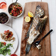 Food & Wine: Grilled Fish with Tapenade and Smoky Ratatouille