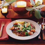 Food & Wine: Grilled Rib-Eye Tagliata with Watercress and Potatoes