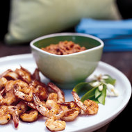 Food & Wine: Grilled Shrimp with Cocoa-Nib Romesco Sauce