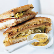 Food & Wine: Grilled Smithfield Ham and Swiss Sandwiches