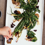 Food & Wine: Grilled Spring Onions with Pistachio Butter