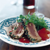 Food & Wine: Grilled Tuna with Coriander Seeds and Cilantro