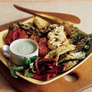 Food & Wine: Grilled Vegetables with Green Goddess Dressing