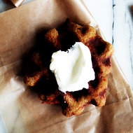 Food & Wine: Carrot Cake Waffles with Cream Cheese Whipped Cream
