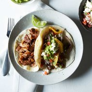 Food & Wine: Oven-Fried Pork Carnitas with Guacamole and Orange Salsa
