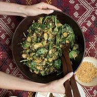 Food & Wine: Kale–and–Brussels Sprout Caesar Salad