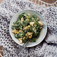 Food & Wine: Kale Caesar Salad with Herb Roasted Grapes