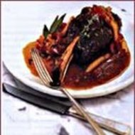 Food & Wine: Braised Lamb Shanks with Peppers And Garlic