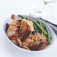 Food & Wine: Lemony Chicken Fricassee with Shallots and Morels