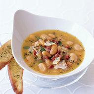 Food & Wine: Littleneck Clam Soup with Butter Beans and Saffron
