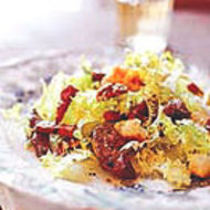 Food & Wine: Frisée Salad with Sautéed Chicken Livers and Croutons