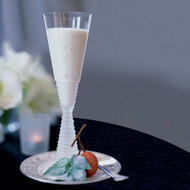 Food & Wine: Lychee Panna Cotta with Sugared Basil Leaves