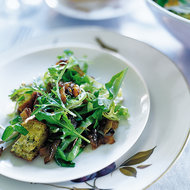 Food & Wine: Mesclun Salad with Onion-Ginger Dressing