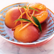 Food & Wine: Muscat-Poached Peaches with Lemon Verbena