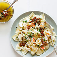 Food & Wine: Farfalle with Crabmeat and Oregano Butter