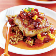 Food & Wine: Pan-Fried Pork Chops with Quinoa Pilaf and Dried Fruit