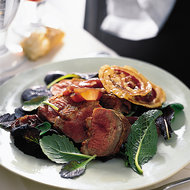 Food & Wine: Pan-Roasted Duck Breasts with Onions and Crisp Pancetta