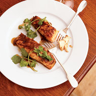 Food & Wine: Pan-Roasted Salmon with Soy-Ginger Glaze