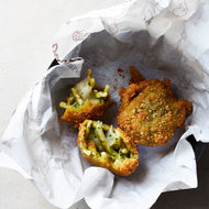 Food & Wine: Pasta-and-Pesto Croquettes