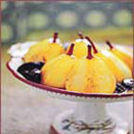 Food & Wine: Wine-Poached Pears with Prunes and Citrus