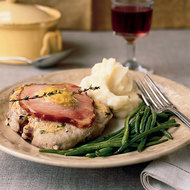 Food & Wine: Pork Chops with Mustard and Canadian Bacon