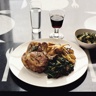 Food & Wine: Pork Chops with Roasted Parsnips, Pears and Potatoes