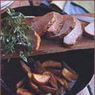 Food & Wine: Molasses-Cured Pork Loin with Apples