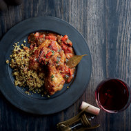 Food & Wine: Poulet Basquaise with Currant Couscous