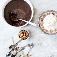 Food & Wine: Chocolate Pot de Crème with Candied Brioche Whipped Cream