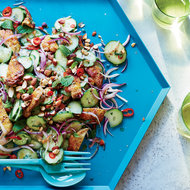 Food & Wine: Grilled Chicken Thigh and Cucumber Salad
