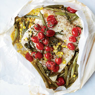 Food & Wine: Halibut in Parchment with Corn and Tomatoes