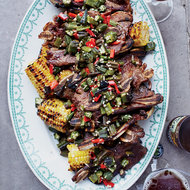 Food & Wine: Kalbi Ribs and Grilled Corn with Kalbi Butter