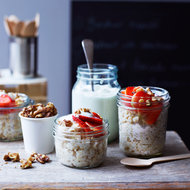 Food & Wine: Oatmeal with Strawberries, Toasted Walnuts and Skyr