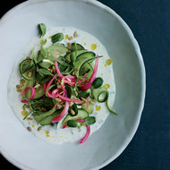 Food & Wine: Cucumber Salad with Buttermilk Dressing and Pickled Onion