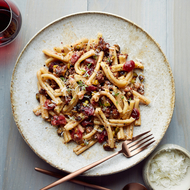 Food & Wine: Casarecce with Sausage, Pickled Cherries and Pistachios