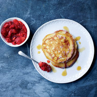 Food & Wine: Buttermilk Pancakes with Quince-and-Cranberry Compote