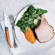 Food & Wine: Roast Pork with Acorn Squash Romesco Puree