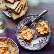 Food & Wine: Pimento Cheese with Salt-and-Pepper Butter Crackers