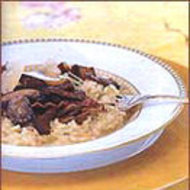 Food & Wine: Risotto with Pancetta and Wild Mushrooms