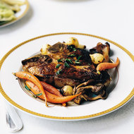 Food & Wine: Roasted Veal Chops with Mushrooms and Madeira