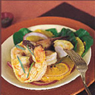 Food & Wine: Pan-Roasted Shrimp with Orange, Arugula, and Tarragon