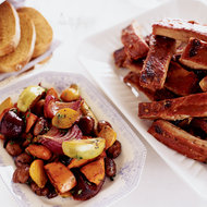 Food & Wine: Root Vegetable Pan Roast with Chestnuts and Apples