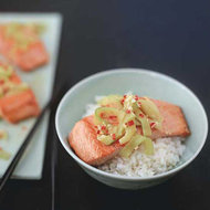 Food & Wine: Salmon Rice Bowl with Ginger-Lime Sauce