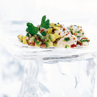 Food & Wine: Scallop Seviche with Avocado Dressing